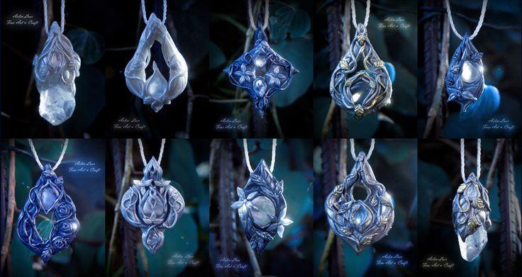 Elvish pendants collection by Gwillieth on @DeviantArt