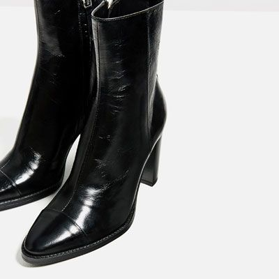 LEATHER HIGH HEEL ANKLE BOOTS-Ankle boots-SHOES-WOMAN   ZARA Finland