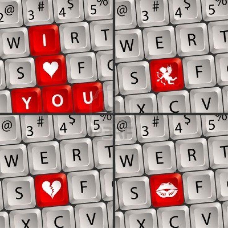 valentine keyboard art