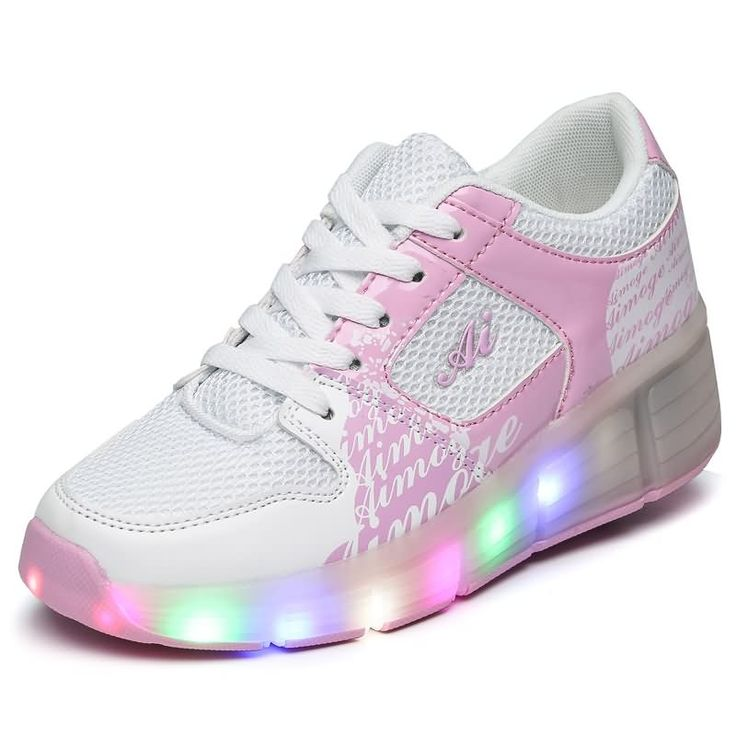 ED shoes For Women Shine shoes Runaway waterproof With wheels Woman LED Sliding shoes Fashion Casual shoes tenis de rodinha33-43