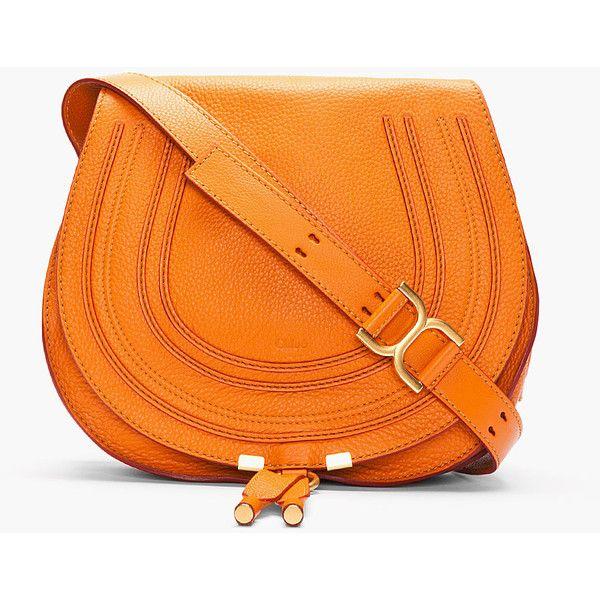 CHLOE Medium Indian Summer Orange Leather Marcie Shoulder Bag found on Polyvore
