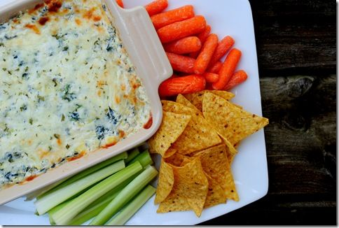 ... snack ever. Skinny Spinach and Artichoke Dip from Iowa Girl Eats