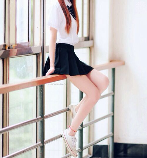 long legs or too short of skirt..? | Asian Fashion ...