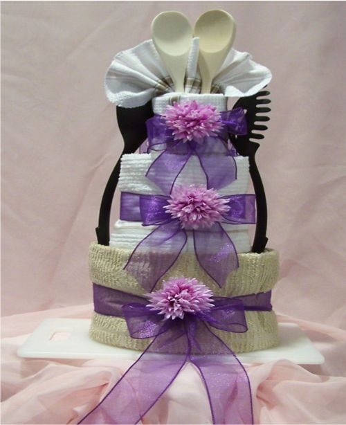 Bridal Shower Towel Cake   The ROSE A Simple Kitchen Towel Cake75 best bridal cakes images on Pinterest   Shower towel  Kitchen  . Great Kitchen Tea Gift Ideas. Home Design Ideas