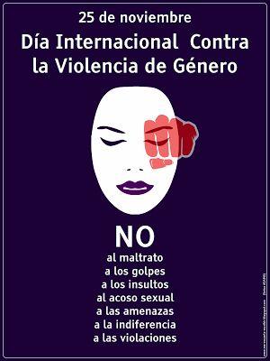 Me encanta escribir en español: 25 de noviembre: Día Internacional Contra la Violencia de Género