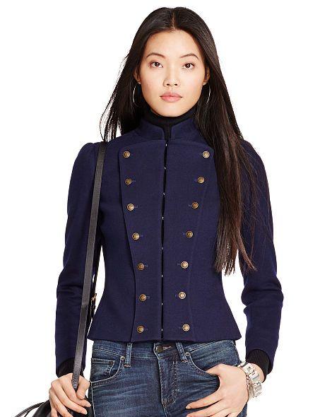 Wool-Blend Military Jacket - Polo Ralph Lauren Jackets - RalphLauren.com