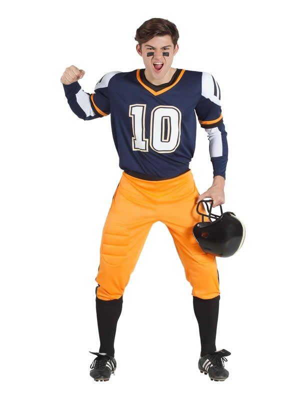 Disfraz De Jugador De Rugby Azul Hombre Jugadores De Rugby Disfraz Futbol Americano Futbol Americano Nfl