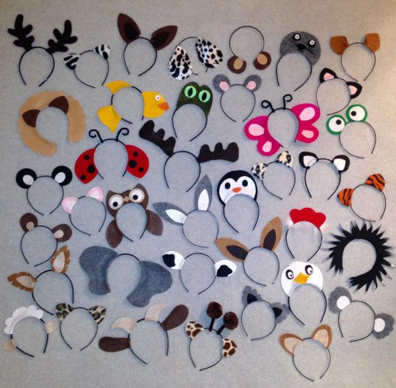 40 quantity animal ears headband birthday party por Partyears