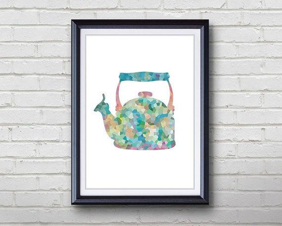 Vintage Kettle Print  Home Living  Kitchenware by Thing3Art