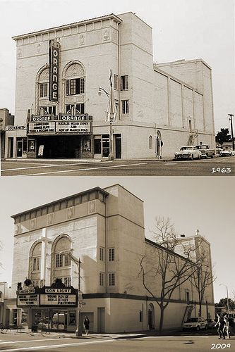 Orange Theater in 1963 and 2009