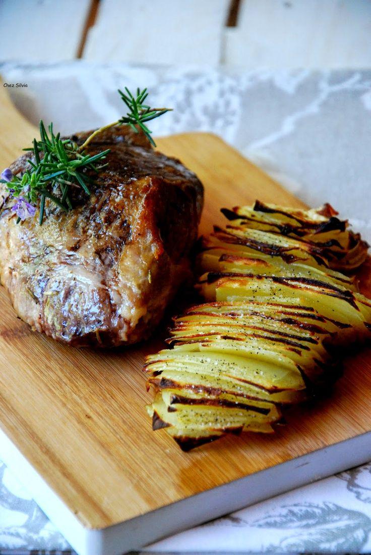 Magro de cerdo a baja temperatura con patatas dominó y aliño de mostaza y miel / Chez Silvia
