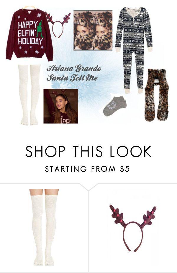 """Ariana Grande - Santa Tell Me"" by bree-hemmings ❤ liked on Polyvore"