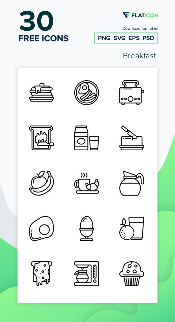 30 Free Vector Icons Of Breakfast Designed By Smashicons Vector Free Icon Vector Icons