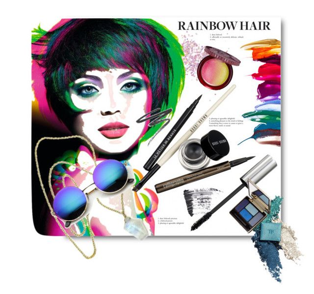 """""""How to Rock Rainbow Hair"""" by anitadz ❤ liked on Polyvore"""