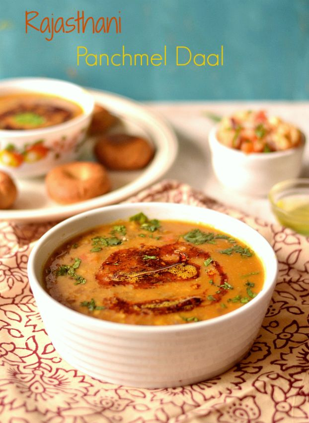 Rajasthani Panchmel Dal- five lentil mix curry – The Veggie Indian 5 lentil mix curry from Rajasthan, traditionally served with baked buns called baatis.