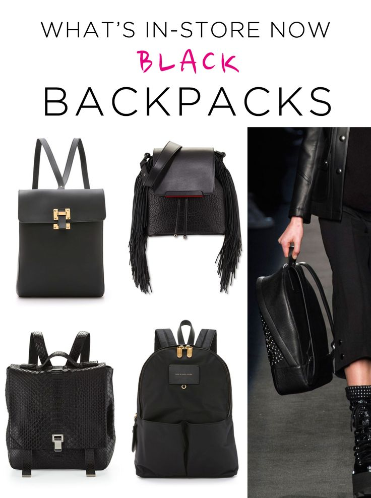 Black Backpacks for F/W 2015