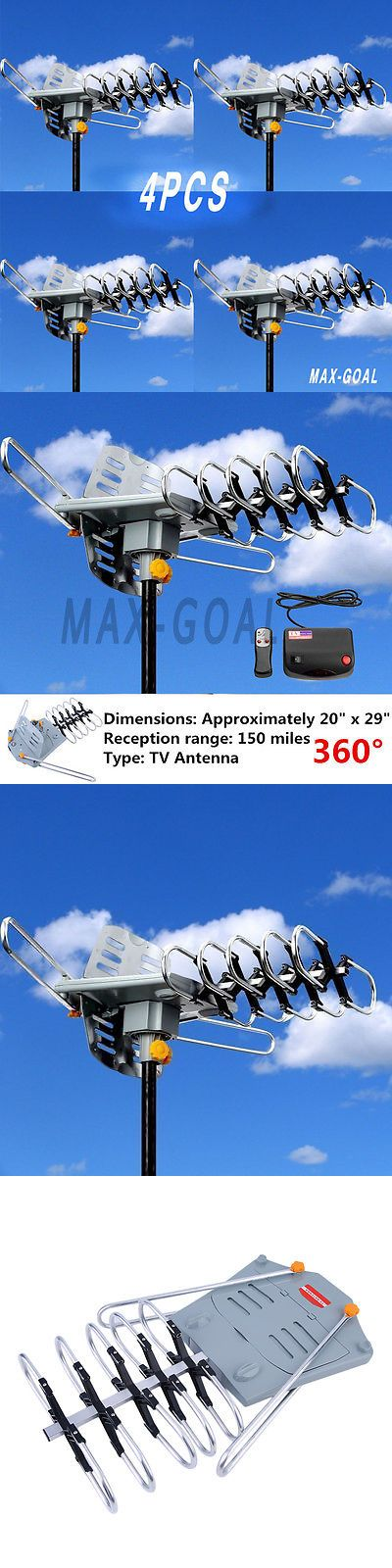 Antennas and Dishes: 2017 Hdtv 1080P Outdoor Amplified Antenna 360 Rotor Digital Hd Tv 150 Mile Lot -> BUY IT NOW ONLY: $216.95 on eBay!