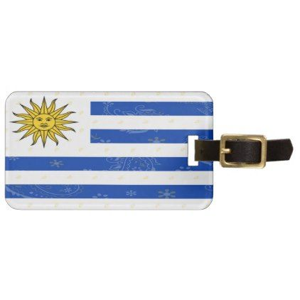 Uruguay Flag Luggage Tag - accessories accessory gift idea stylish unique custom