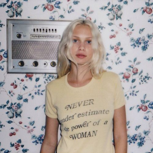 secretsparkles: Wallflower BTS polaroid from the other day with @purienne_ & @lilahsummer wearing our vintage 60's feminist tee. Beauty by @melindalovedean. Polaroid by @electricalbannana. Stay tuned by stoned_immaculate_vtg http://ift.tt/1CfTZzt