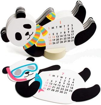Creative panda calendar