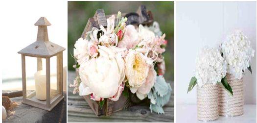 Φαναράκια και ξύλινα κασπώ με λουλούδια σε ροζ παστέλ αποχρώσεις και ναυτικές λεπτομέρειες μπορούν να αποτελέσουν τη ναυτική διακόσμηση της εκκλησίας αλλά και του χώρου της δεξίωσης σας.