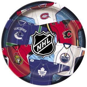 "National Hockey League 9"" Plates (8/pkg)"