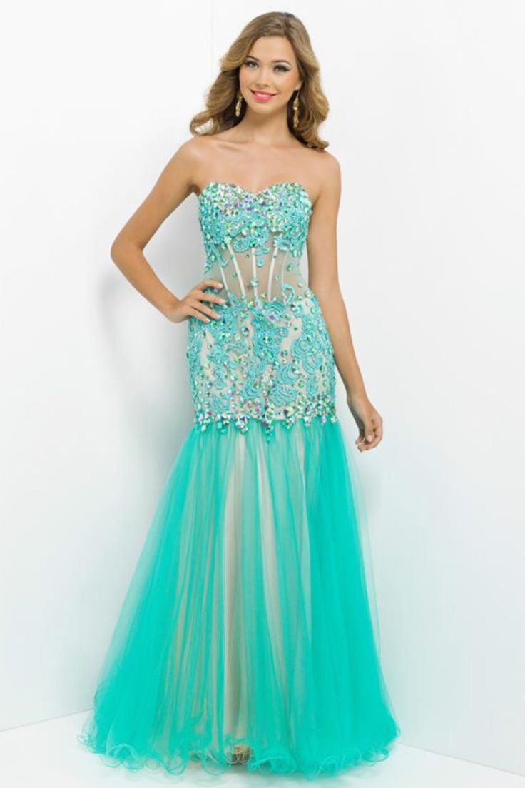 102 best Green prom dresses images on Pinterest | Party wear dresses ...