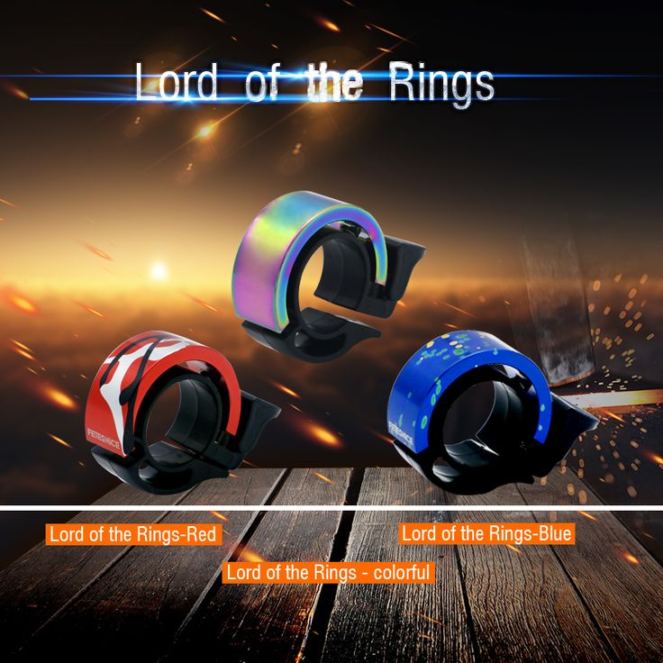 FETESNICE Patented product cool bicycle bike bells Lord of the Rings-red/blue/colorful CNC Aluminum  Metal Environmental horn