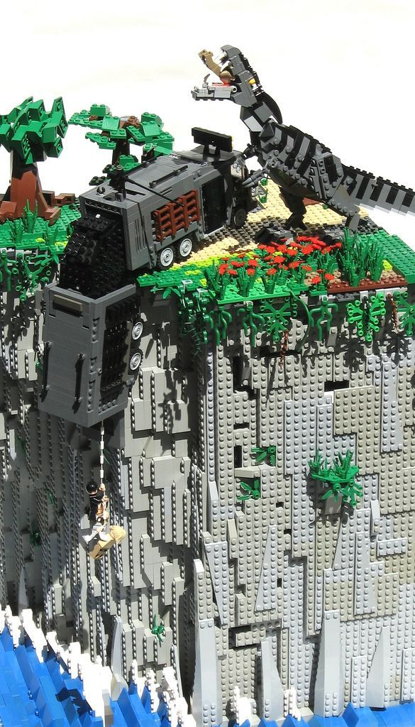 The Lost World (Jurassic Park 2) — in LEGO! - broken link but awesome picture