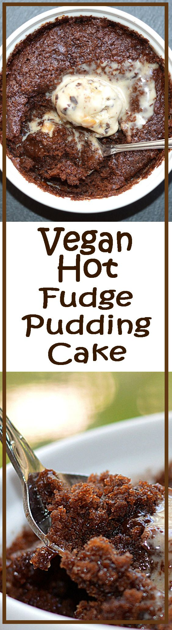 Hot Fudge Pudding Cake - inspired by an old Hershey's recipe and surprisingly, required few substitutions as it contained no eggs.  You know those oh-so-popular molten chocolate lava cakes? This is far much better than dessert