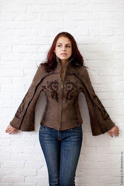 """Верхняя одежда ручной работы. Ярмарка Мастеров - ручная работа. Купить валян куртка """"Тату"""" в эко стиле. Handmade."""