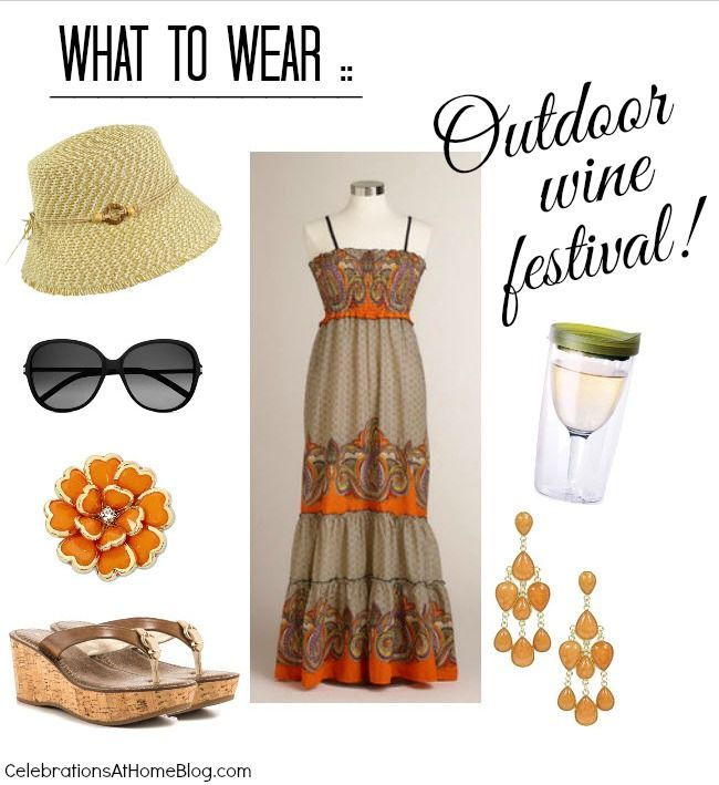 WHAT TO WEAR :: OUTDOOR WINE FESTIVAL #fashion #summerparty: Festival Ideas, Outfit Ideas, Dress, Festival Outfit, Wine Festivals, Festival Fashion