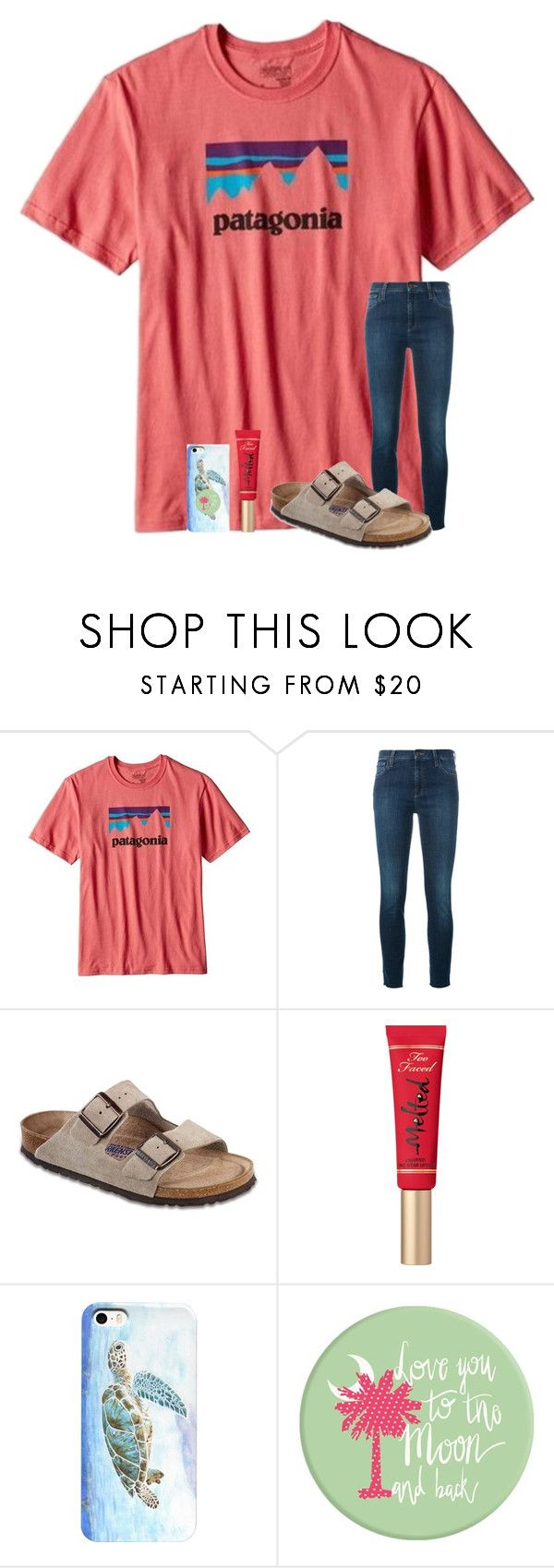 """""""ABC tag"""" by kristie-thompson78 ❤ liked on Polyvore featuring Patagonia, Gucci, Birkenstock and Too Faced Cosmetics"""