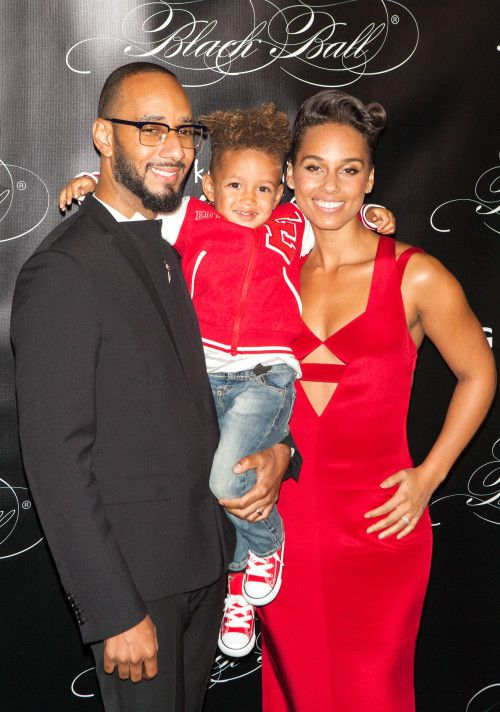 Alicia Keys with her family