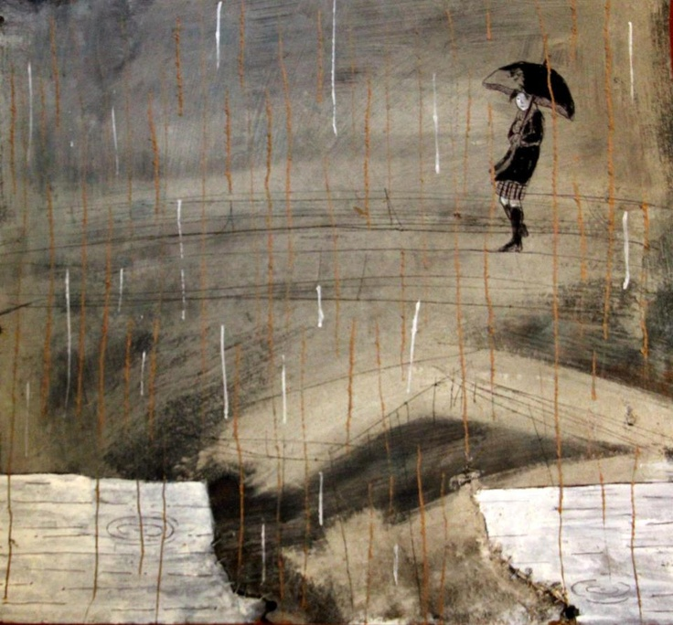 (With Simona Giova)Rain  Mixed media on board