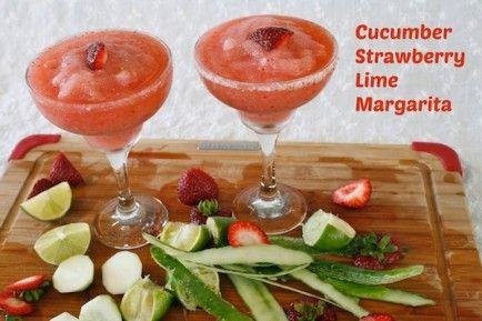 Strawberry Cucumber Lime Margarita http://www.babble.com/best-recipes/strawberry-cucumber-lime-margarita-slushy/