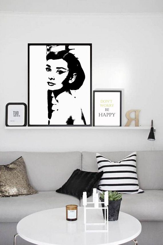 Printable Poster Art Audrey Hepburn Gift Vogue Wall Fashionista Fashion Print Decor