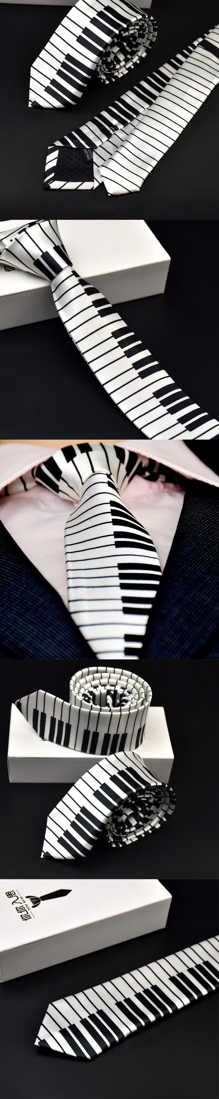 New Fashion Necktie Artist Gentleman Ties Toastmaster Wedding Party Elegant Keyboard Silk Gravata Slim Arrow Tie for Men Gifts