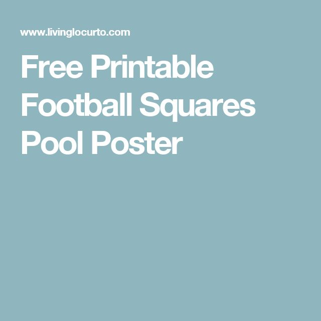 9 Best FOOTBALL SQUARES Images On Pinterest