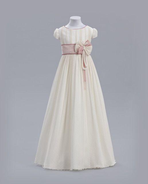 7e15528fc Vestido de comunión Tizzas modelo Jara   niños   Vestidos de comunión,  Vestidos, Vestidos para niñas