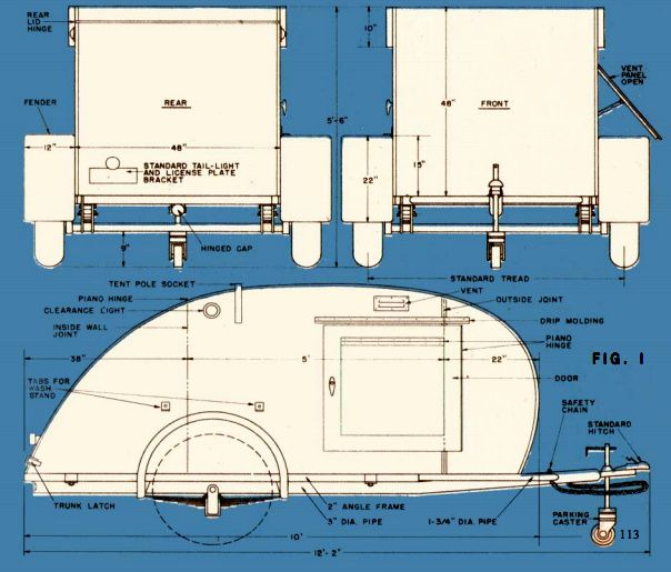 How To Build A Teardrop Trailer For Two.