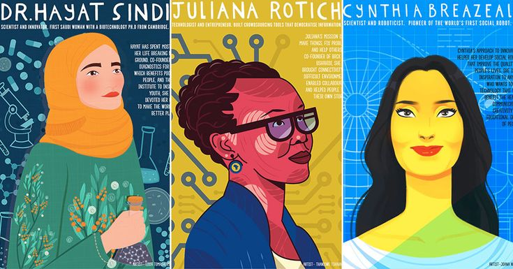 Eight downloadable posters celebrating women of STEM perfect for displaying in k... 2