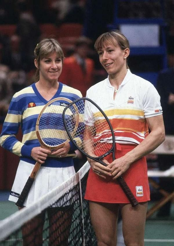 Chris with Martina Navratilova