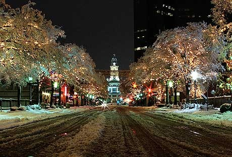Fort Worth in the Snow