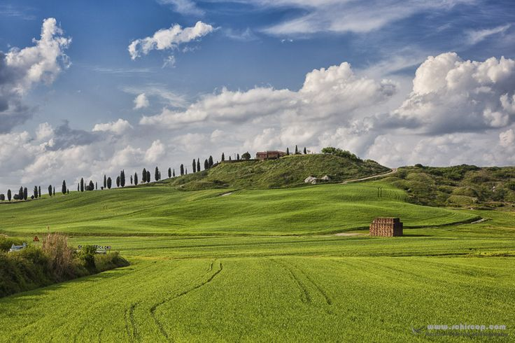 Tuscany, Italy in the heat of the Tuscan hills. #Tuscany #italy #fields #nature #Toscana #WallArt #Hills #Nature #Bliss #house #clouds #painting #sky #skies #landscape #tuscanhouse #Florence