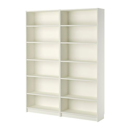IKEA - BILLY, Bookcase, white, , Adjustable shelves; adapt space between shelves according to your needs.