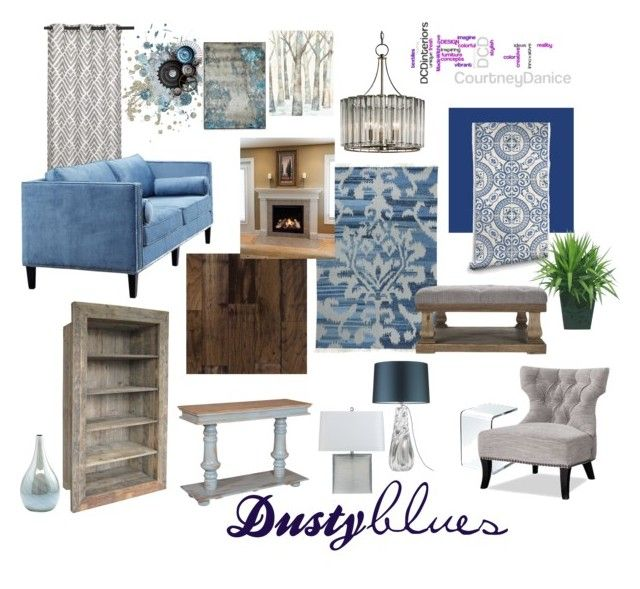 Dusty Blues By Courtneydanice Liked On Polyvore Featuring Interior Interiors
