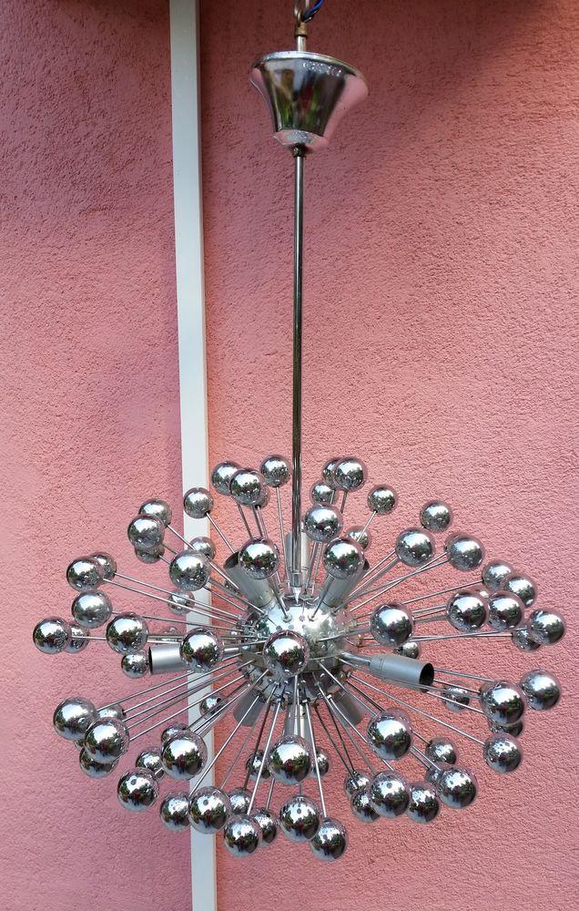Bellissimo Lampadario Sputnik Anni 70 Space Age