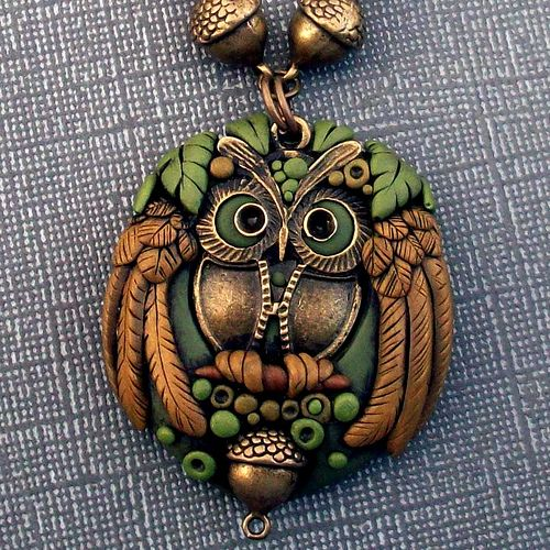 Polymer Clay Owl Pendant | Flickr - Photo Sharing!