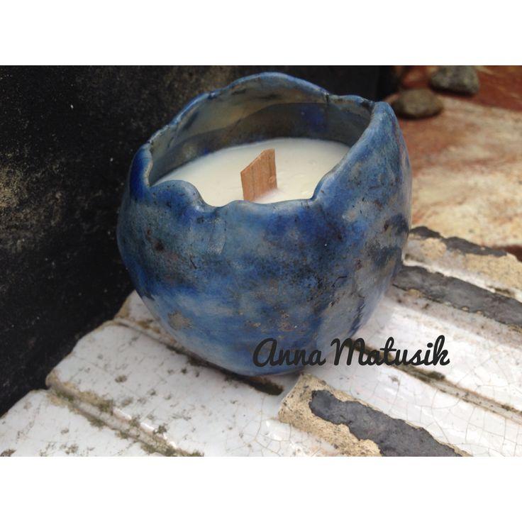 A.Matusik- Soy candle and my raku ceramic